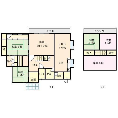 2階はすべて洋室にリフォームしました。